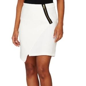 QVC JOE ZEE EDGY ZIPPER DETAIL ASYMMETRICAL SKIRT
